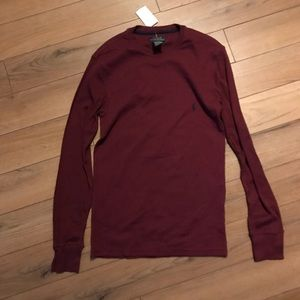 Polo by Ralph Lauren Long Sleeve Red Waffle Knit S